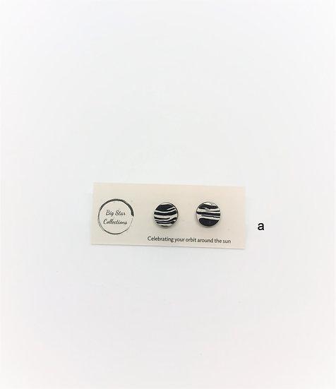 Zebra print studs