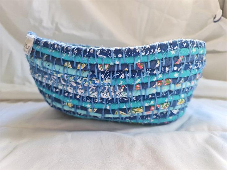 Blue textile basket