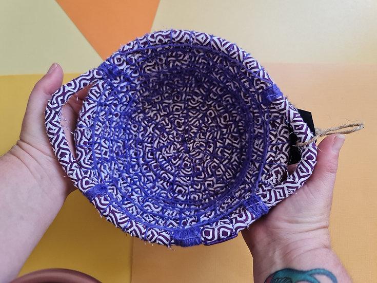 Purple Basket with Handles