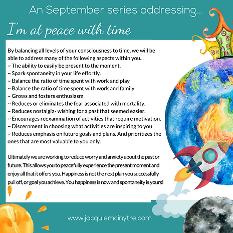 My Incredible Orbit September Series of Sessions