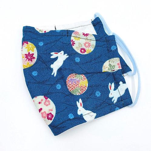 Reusable Floral bunny Kimono print Double Layered Cotton Face Mask