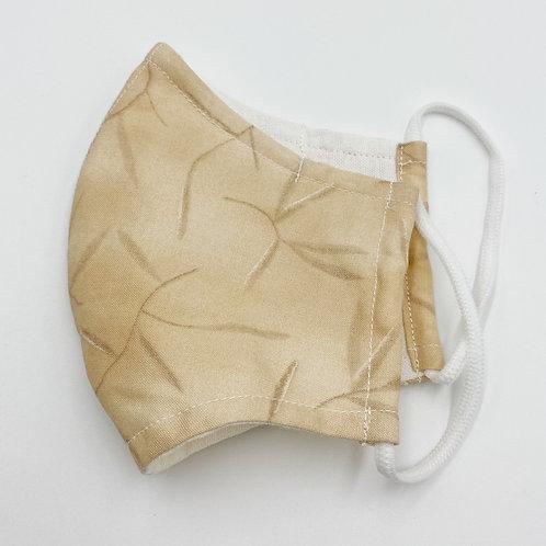 Reusable Tea-Color Print Double Layered  Cotton Face Mask