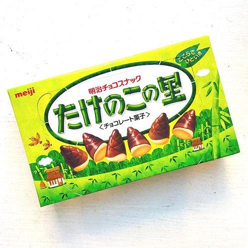 Meiji たけのこの里 Takenoko no Sato Chocolate Snack