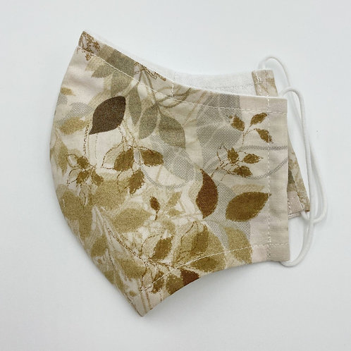 Reusable Autumn Leave Print Double Layered  Cotton Face Mask