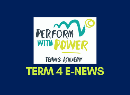 Welcome to Term 4 Tennis