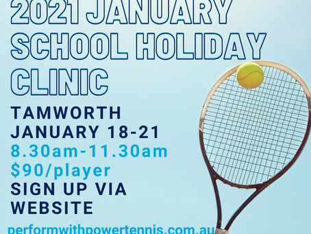 JANUARY 2021 SCHOOL HOLIDAY CLINIC