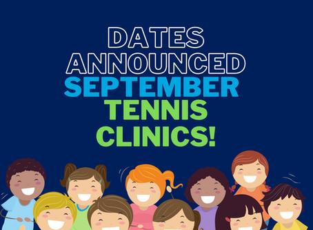 September School Holiday Clinics!