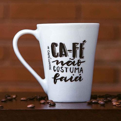 Caneca  Ca fé não costuma faiá Café Hands 320ml