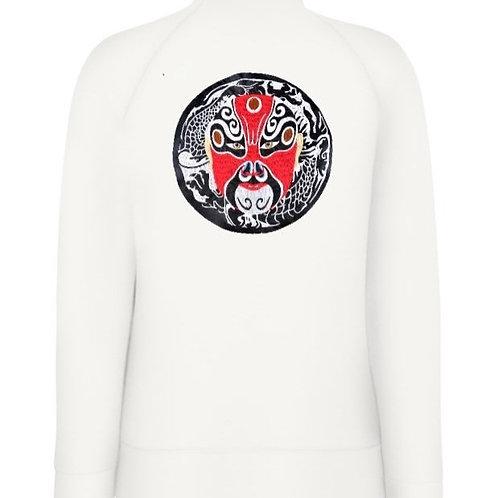 Дамска ватирана блуза с цип и яка с маска