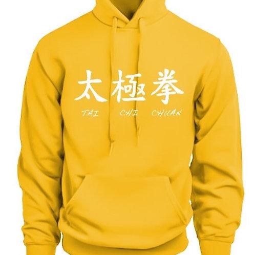 Жълт дракон суитшърт с качулка унисекс