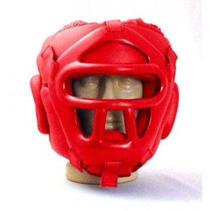 Каска с пластмасова маска за самозащита
