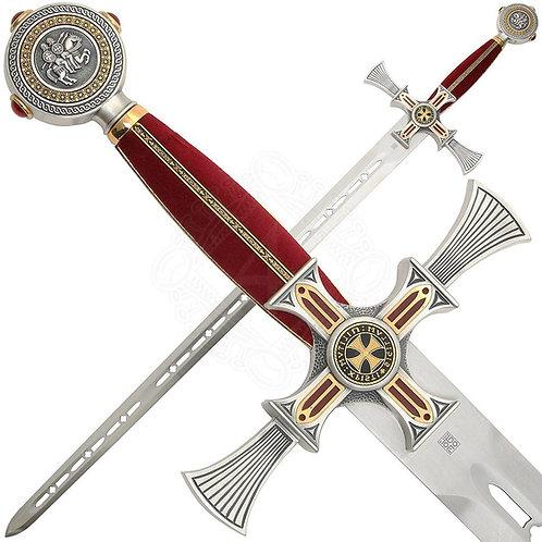 Тамплиерски меч от дамаскина стомана