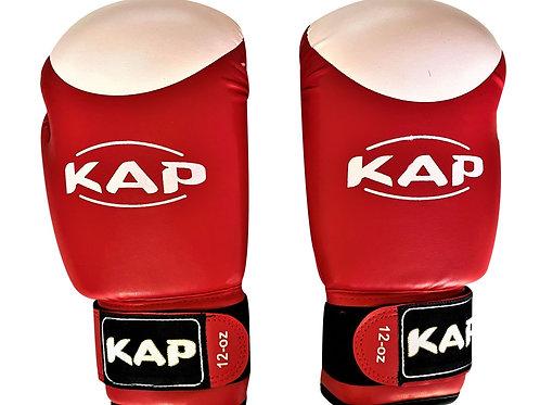 Боксови ръкавици от биволсак кожа на KAP с бяла точка