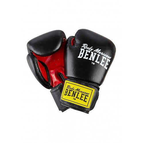 БОКСОВИ РЪКАВИЦИ BENLEE FIGHTER LEATHER BOXING GLOVES BLACK/RED