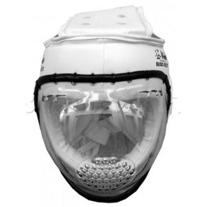Каска за KUDO и самозащита с решетка бяла