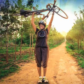 Aarti, a triumphant cyclist