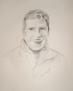 Pencil Drawing of a Handsome Man