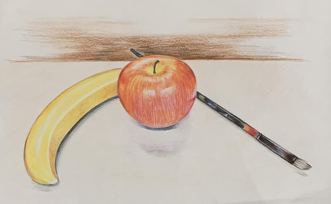 Drawing final colour pencil