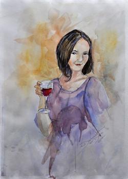 Daria watercolout portrait