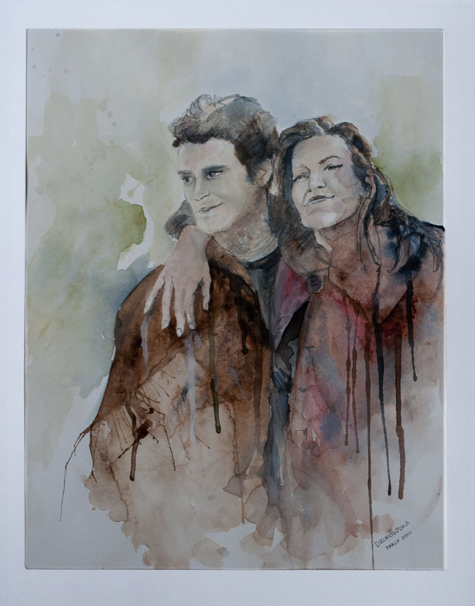 Couple Watercolour Portrait