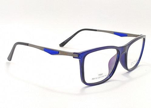ArmaçãoMasculina Azul Preta Esportiva Óculos de Grau