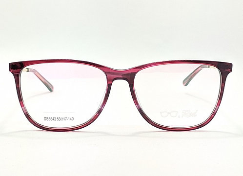 Armação Feminina Vintegy Vermelha Vinho Óculos de Grau