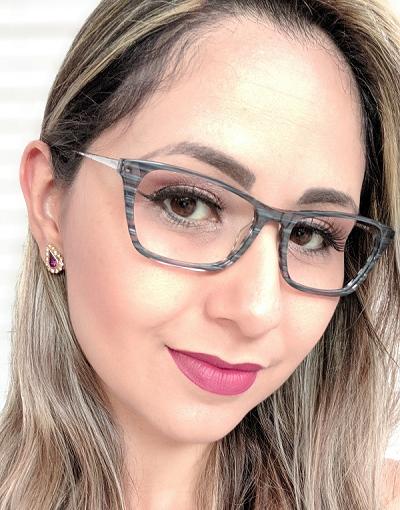 Armação Feminina Vintegy Cinza Óculos de Grau