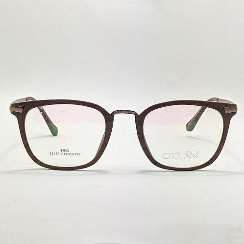 Armação RED Marrom e Madeira  Óculos de Grau