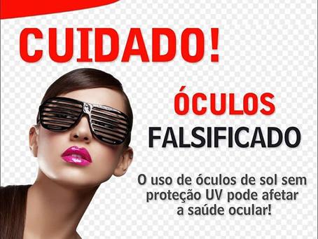 Perigos de óculos falsificados