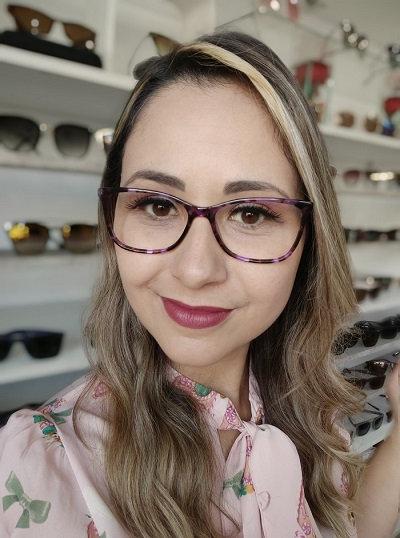 Armação Roxa Feminina RED Óculos de Grau