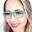 Thumbnail: Armação Feminina Polo Ross verde Óculos de Grau