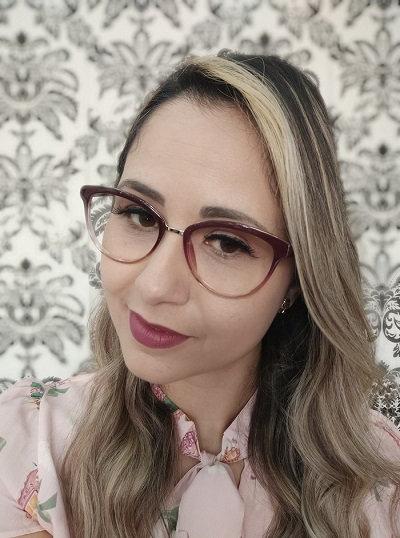 Armação Feminina RED Vinho Degradê Óculos de Grau