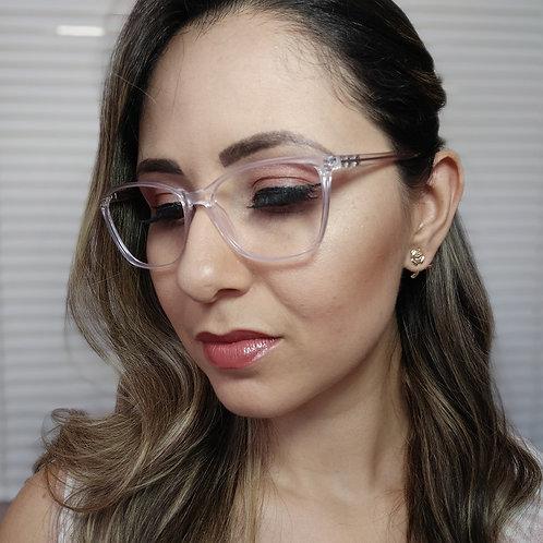 Armação Feminina Vintegy Transparente Óculos de Grau