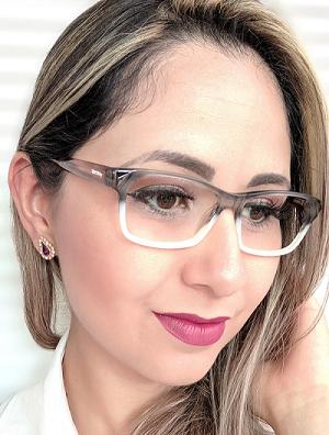 Armação Feminina Vintegy Cinza Degradê Óculos de Grau