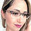 Thumbnail: Armação Feminina Vintegy Cinza Degradê Óculos de Grau