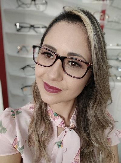 Armação Feminina RED Marrom Óculos de Grau