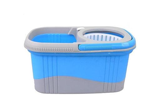 daisu magic twin colour microfibre 360 spin mop set 2 mop head blue