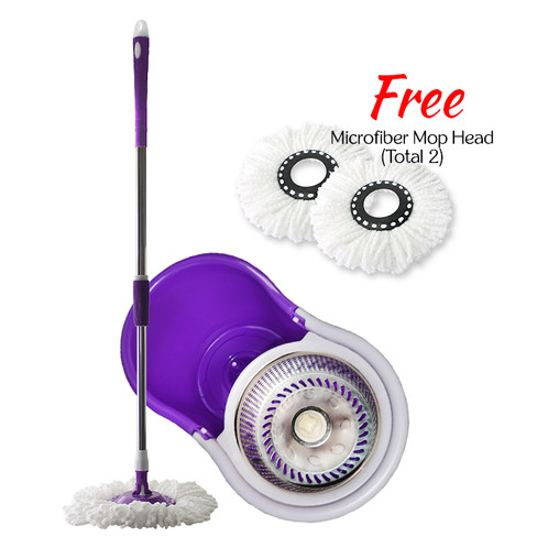 foc extra 1 mop head daisu deluxe stainless steel 360 rotation magic spin mop voxtera