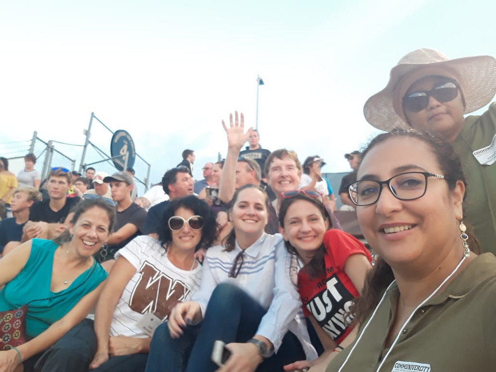 IVLP visitors attending a Western Michigan University football game.