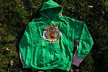 GREEN HUE TIGER HOODY