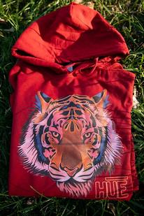 RED HUE TIGER HOODY