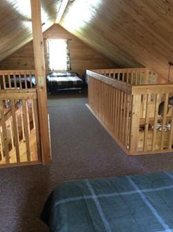 Catwalk connecting loft bedrooms