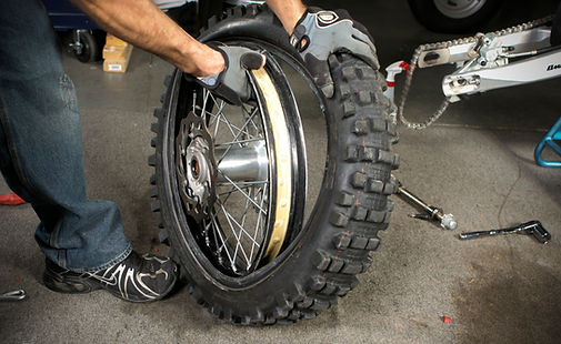 SAN DIEGO MOTORCYCLE TIRE CHANGE