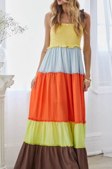 Color blocked smocked (6/12/21)