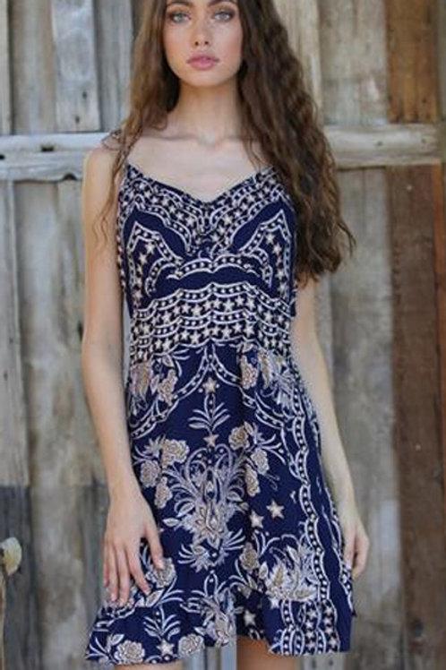 Deep V back dress
