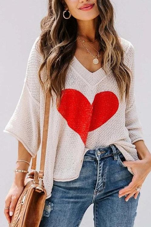 Knit heart top
