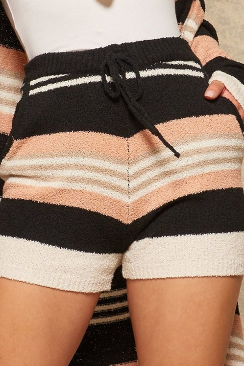 Striped sweater shorts