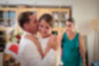 Mariage de Pauline et Colas Brissac, Stéphane Guibert photographe mariage Angers , Préparatif mariée, papa découvre sa fille