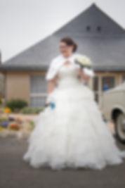 Mariage Adeline et Thomas  Angers stéphane Guibert photographie, la robe de la mariée
