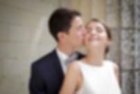 Mariage de Pauline et Colas Brissac, Stéphane Guibert photographe mariage Angers , Photos de couple, tendre baiser.